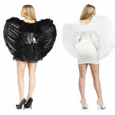 Engelsflügel Weiß und Schwarz Federflügel Für Halloween Party Mehrere Größen