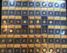 60 COINS CERTIFIED ANACS  $1000+ PCGS Value #A1 $600 Grading Fee Alone! W/Silver