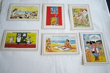 Quip Seaside Humour Postcards x 6. Published by LC Card, ECC