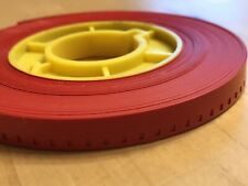 """8mm Film Leader 40 ft NEW """"FIESTA BRAND"""" RED COLOR plus plastic core"""