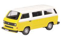 VW T3 bus, yellow/white - 1:87 / H0 Gauge - Schuco (25610)