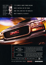 2002 GMC Sierra Truck Pickup - Classic Vintage Advertisement Ad H03