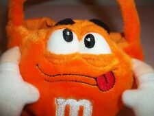 M & M ORANGE M  PLUSH CANDY BASKET. DATED c) 2001  CUTE AND SOFT! FREE SHIPPING