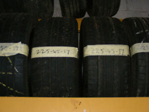 225 45 17 PART WORN TYRES 6mm FITTED AND BALANCED