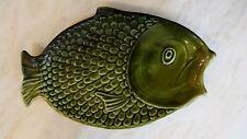 VINTAGE SYLVAC GREEN FISH PLATE   NO 4685.