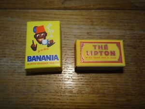 Rares Boites d'Epicerie Anciennes en Carton Banania Lipton Thé Dinette 6