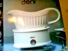 Deni  -  Electric GRAVY / SYRUP -  Boat with Warming Plate, Fine white ceramic .