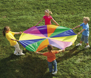 6 Ft Play Parachute w/ Handles Kid Children Outdoor Game Activity Toy Carry Case