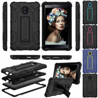 "For Samsung Galaxy Tab A 7"" 8"" 9.7 10.1 Hybrid Rugged Stand Hard Back Case Cover"