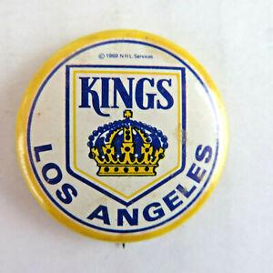 "1969 Los Angeles Kings 1"" Vintage Pinback Button - NHL Hockey LA 1960's"