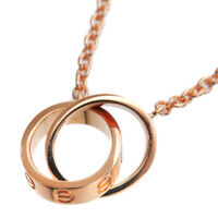 Authentic Cartier Baby Love Necklace K18 750 Rose Gold AI0792 Used F/S