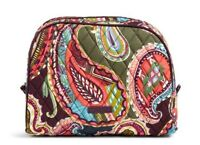 VERA BRADLEY~Large Zip Cosmetic Bag~HEIRLOOM PAISLEY~Brand New with Tag!