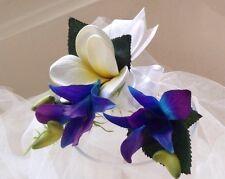 "Blue Purple Orchid ""REAL TOUCH""- Mini Corsage & Buttonhole  set SALE PRICE"