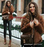 Zara Camel Tan Faux Fur Teddy Coat Jacket High Neck SIZE S M XL