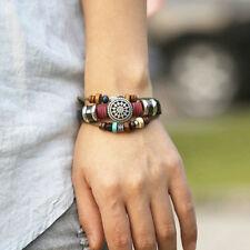 Bracelet Mixte Cuir Homme Femme Couleurs Lien Coulissant