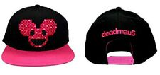 Deadmau5 Pink Weave Pixel Face Logo Trucker Hat Snapback Cap