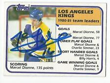 MARCEL DIONNE Autographed Signed 1981-82 Topps Leaders card Los Angeles Kings