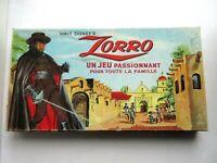 Boite de jeu WALT DYSNEY'S:  ZORRO, boite cartonnée complète de qualité, Vintage