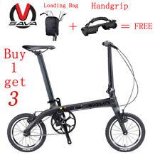 SAVA ZQ Folding Bike Urban Mini City Bicycle Single Speed 14'' Carbon Fiber New