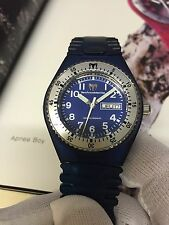Technomarine APNEA BOY Blue WITH Box & Papers EXTRA NEW STRAP divers Watch 300m