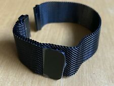 Two Magnetic Milanese Loop Mesh Black Bands For Samsung Gear 20mm