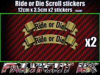 Klutch Gang Apparel Black Decal Sticker Small Motorcycle ATV Bikelife Bike Life