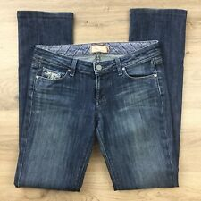 Paige Womens Jeans Blue Heights Low Rise Skinny Leg Size 27 Hemmed (BJ6)