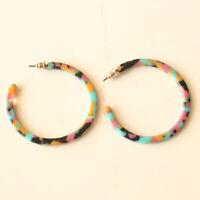 New Baublebar 47mm Resin C Hoop Earrings Gift Fashion Women Party Jewelry FS