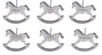 SILVER ROCKING HORSE Personalised Engraved Keepsake-Suitable for any occasion