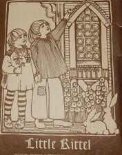 Vintage Boho Folkwear Pattern Children Little Kittle Shirt Dress Size 4 8 10