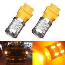 2x 3157 Cree High Power 5730 10W LED Amber Yellow Turn Signal Blinker Light Bulb