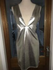 Sexy Fetish Plunge Shiny Stretchy PVC Dress Size 12,14 (QQ17)
