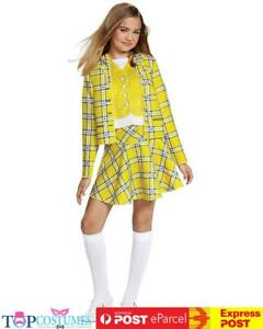 Girls School Girl Clueless Cher 1990s Film TV Fancy Dress Costume Outfit
