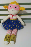 Target LARGE FAIRYTAIL RAG DOLL PLUSH 50cm Tall! LIGHTNING SKIRT PINK MASK