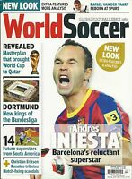 World Soccer Magazine Andres Iniesta Qatar World Cup Dortmund Future Superstars