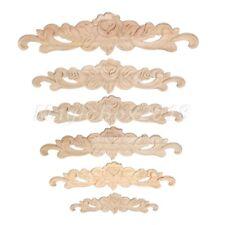 1pc Wood Carving Decal Wall Door Onlay Applique Unpainted Corner Decal 20-50cm