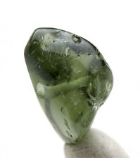 Moldavite Bead Polished Natural Gemstone Meteorite Impactite Tektite AUTHENTIC