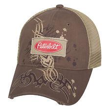 PETERBILT  BROWN TRIBAL GRAPGICl  TRADEMARK LOGO Mesh HAT CAP   NEW!!  fb70ff64f9c9