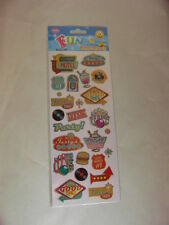 STICKER SHEET - Retro Fun Stickers 989  (2 sheets)