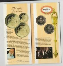 More details for 1989 royal mint bill & claim of rights uncirculated £2 coin set in card pack