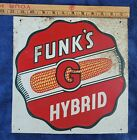 Vintage  Funk's G Hybrids Corn Sign