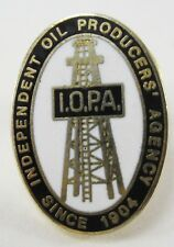 Vintage Independent Oil Producers Agency Member Pin Since 1904 Derrick Roughneck