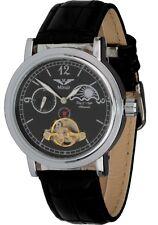 Minoir Uhren Modell Mistral schwarz Unisexuhr Automatikuhr Lederuhrband