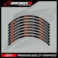"KTM SX SXF 125 250 350 450 MOTOCROSS RIM DECALS Graphics 21"" 19"" Black/Orange"
