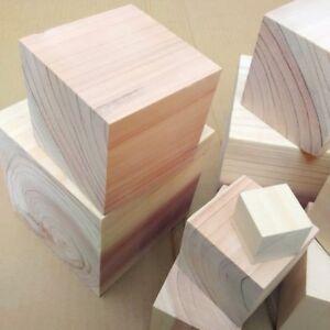 10X Wooden Craft Supplies Blocks Wood Cubes 10mm - 30mm Hardwood Pine DIY