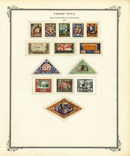 Tannu Tuva Early 1900s Vintage Stamp Collection 60 Stamps