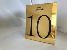 Gold Table Numbers 1 to 10 Tent Style Wedding Birthday Party Table Decor