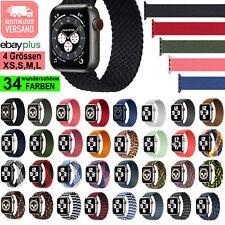 ?? GEFLOCHTENES SOLO LOOP Sport Armband Apple Watch Series 1 - 6 & SE Nylon Band