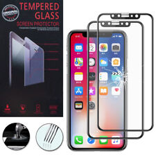 "2x Cristal protector para Apple iPhone x 5.8"" real de Pantalla Negro"