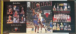 LOT 1997 BULLS RUN Champions Poster JORDAN 1st to Seventy Starline Costacos16x20